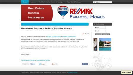 Newsletter Bonaire